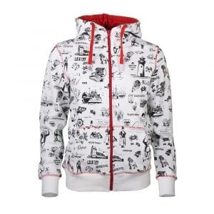 Sweatjacke MIA Wallpaper rot